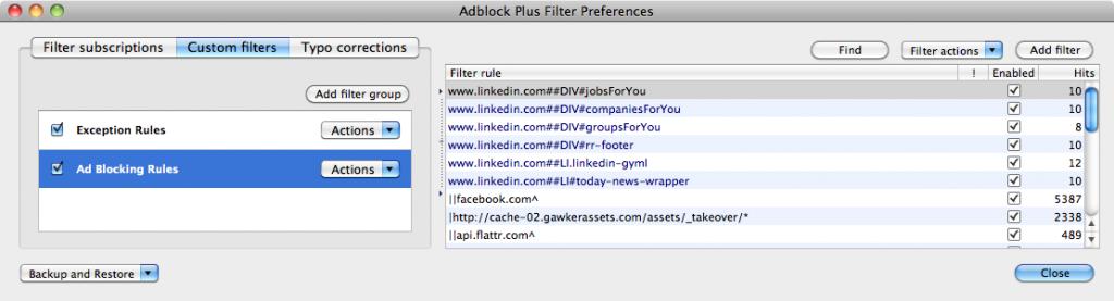 Adblock Plus Filters