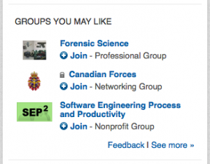 LinkedIn - Groups You May Like