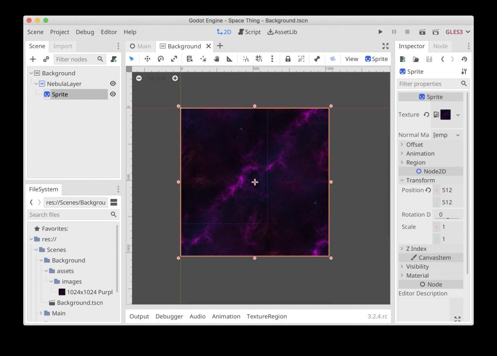 Space Thing - Nebula Background
