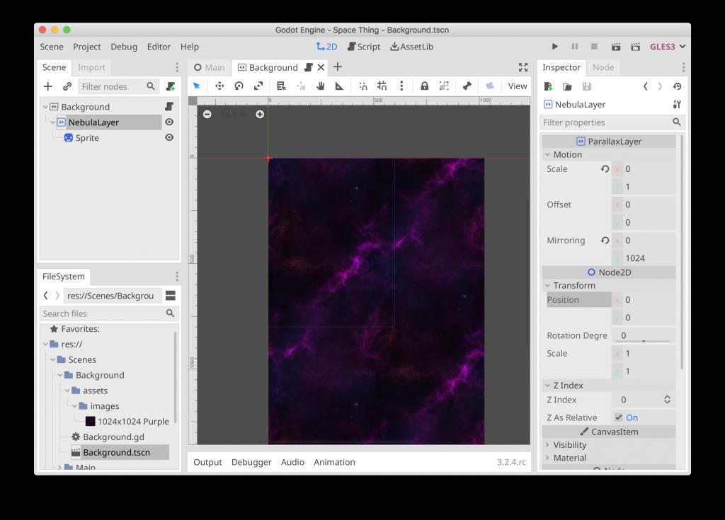 Space Thing - Nebula Mirroring