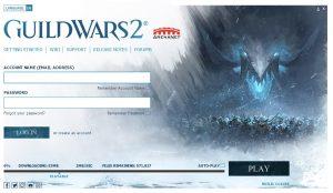 Guild Wars 2 - Login Screen