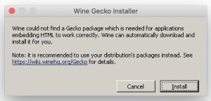 Wine - Gecko Installer