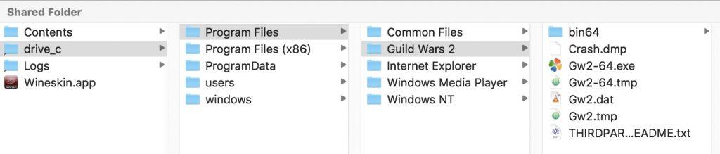 Wineskin - Guild Wars 2 Data Location