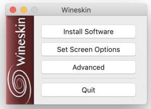 Wineskin - Main Window